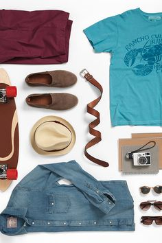 Vacation checklist. Don't forget accessories like hats, belts and sunglasses. H&M. #HMMEN