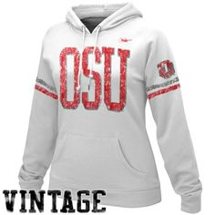 Nike Ohio State Buckeyes Ladies White Vault Pullover Hoodie Sweatshirt  Oklahoma College Football 835c843123