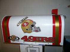 NFL SAN FRANCiSCO 49ers CUSTOM MAiLBOX jersey hat raiders chargers chiefs giants