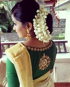 Elegantly crafted designer blouse for our beautiful bride. AanDe by Aanu Nobby