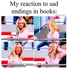 Sharpay Evans was the last person I expected as a reaction photo relating to books.