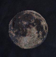 Moon Cross Stitch Pattern PDF  Planet Solar by EasyStitchForFun