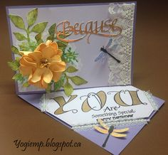 Side Easel Foamiran Flower; #ElizabethCraftDesigns die Because; #QuietfireDesign fill er up word and sentiment stamps; Lace/ribbon/gems; punch; http://yogiemp.blogspot.ca/2017/07/mc-july17-side-easel-foamiran-flower.html