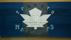 """Large 17.5 x 36"""" wood panel sign in rustic team colors and crackled leaf font along the bottom, message Mary rmcjbreedon@rogers.com Leaf Font, Caricatures, Wood Paneling, Mary, Pastel, Sign, Display, Rustic, Canvas"""