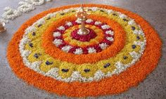 A traditional Pookolam/rangoli to decorate your home- loved & pinned by www.omved.com