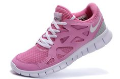 best service 68f3b 6ad31 2011 New Arrival Nike Free Run 2 Womens Running Shoes - Pink White Gray