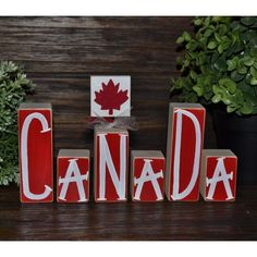 Canada Decor Patriotic Decoration Canadian Block Set Remembrance Day... ($20) ❤ liked on Polyvore featuring home, home decor, dark olive, home & living, home décor, ornaments & accents, country style home decor, farmhouse home decor, country home decor and british home decor