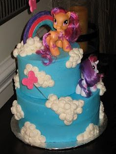 My Little Pony cake mini marshmallows for clouds?