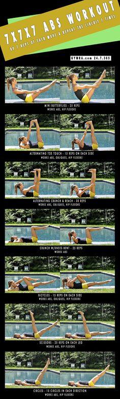 7 x 7 x 7 ABS Workout