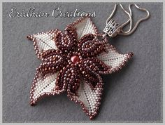 "Beaded pendant ""Desert Rose"" - tutorial on Etsy, 3,77 €"