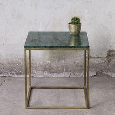 RANA Couchtisch Beistelltisch Marmor grün gold