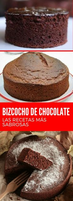 Chocolate sponge cake: classic recipe and many more Choose your favorite! Mexican Food Recipes, Whole Food Recipes, Cake Recipes, Cooking Recipes, Cookbook Recipes, Soup Recipes, Vegetarian Recipes, Chocolate Sponge Cake, Chocolate Chip Cookies