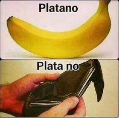 Platano vs Plata no