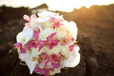 Bridal bouquet by Petals - Bliss Maui Wedding - Anna Kim Photography