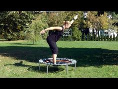 Back exercises on rebounder... an assortment of exercises for a rebounder
