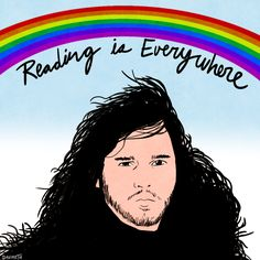 """Kit Harrington came over to me under Big Ben, put three balls of moss on me, and said, ""Reading is everywhere"" as a rainbow formed over his head"""