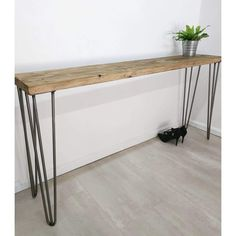 Examples of use: Sideboard, Bar Table, Storage Unit, Entryway Table, Hallway Table, Reception Desk. Also Desk, Work Surface, Plant Stand, TV stand etc. LÜPS SIDEBOARD is made of reclaimed timber that is hand-picked by us. Every sideboard is made of slightly different timber and is therefore unique.