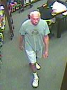 The above individual was observed on video surveillance rubbing his genitals and masturbating numerous times while at Barnes and Noble on 06/18/13.  It appears this subject is doing this while watching customers and possibly trying to look up females' skirts.  Anyone that has any information as to the possible identity of this individual please contact Detective Lauer # 307 at Ext. 3385