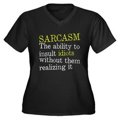 Tact vs Sarcasm T-Shirt by gigglers
