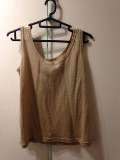 fa6e67da Pret a Porter Joanne El Gold Sparkle Glitter vest top size XL