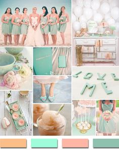 blush mint and pink summer beach wedding color ideas 2014 - so beautiful..