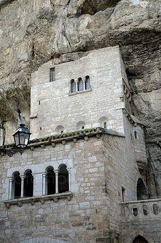 Francia, Lot, Rocamadour Santuario en la ciudad religiosa
