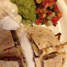 Lunch today - yummy in my tummy quesadilla's!