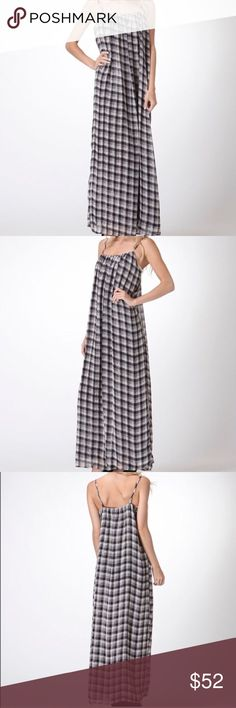 Plaid dress😍 Adorable black and white plaid dress!! I love it but it's not my size sadly 😐. NWT. Perfect for spring and summer coming up. Would consider  a small if available for trade. *necklaces not included just for styling looks 😉. Sooo cute! Moon Collection Dresses Maxi