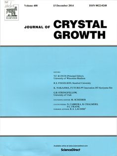 Публикации в журналах, наукометрической базы Scopus  Journal of Crystal Growth #Crystal #Growth #Journals #публикация, #журнал, #публикациявжурнале #globalpublication #publication #статья