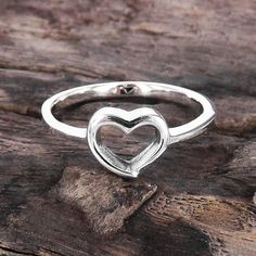 Modern Romance .925 Sterling Silver Heart Ring (Thailand) | Overstock.com Shopping - Great Deals on Rings