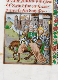 """""""Arrival of the Amazons @BLMedieval Royal 17 E II f. 349"""""""