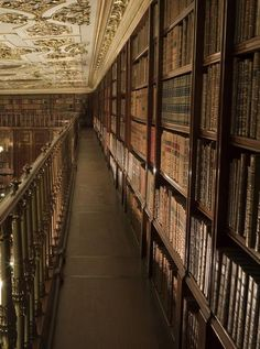 Chatsworth House Library, Derbyshire, England,