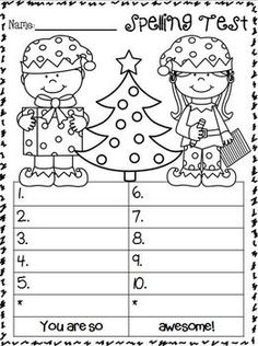 Fun Spelling Test Templates - for 10, 15, and 20 words + bonus versions of each | Template ...