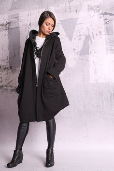 Hey, I found this really awesome Etsy listing at https://www.etsy.com/listing/206112481/extravagant-black-coat-asymmetric-coat