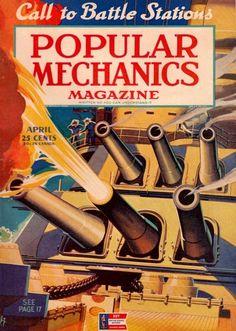call to battle stations! Technology Magazines, Science And Technology, Tech Magazines, Jim Steranko, Magazine Images, Magazine Covers, Science Magazine, Popular Mechanics, Old Ads