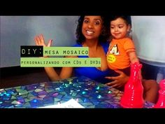 DIY ..::.. MESA DE CANTO COM MOSAICO DE CD! - BRUNA EVANGELISTA - YouTube