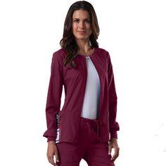 Cherokee Workwear Women's Stretch Warm Up Solid Scrub Jacket