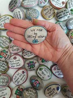 Custom/Personalized Inspirational Message pebbles. ********************************** This price is for 1 pebble only !! ********************************** A perfect little attention present for your love ones. Insted of just saying your love you can show it by these qute stones. They