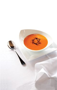 Red Pepper Soup with Balsamic Reduction Recipe | Vegetarian Times