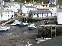 Polperro is one of the prettiest and most famous villages in Cornwall. Devon And Cornwall, Cornwall England, Polperro Cornwall, Best Of British, Republic Of Ireland, Northern Ireland, Great Britain, That Way, United Kingdom