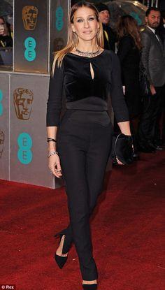 Always a trendsetter: Sarah Jessica Parker went against the grain in her black Elie Saab jumpsuit