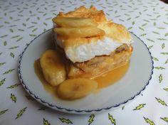 Aneta Goes Yummi: Žemľovka s karamelizovanými banánmi a rumom