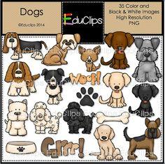 He encontrado este interesante anuncio de Etsy en https://www.etsy.com/es/listing/187478586/dogs-clip-art-bundle