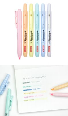 The Retractable Highlighter Set has highlighters that are super simple to use! Instead of having a cap to cover the highlighter, simply push the button to use, or retract back in when not in used! It makes highlighting things way more fun!