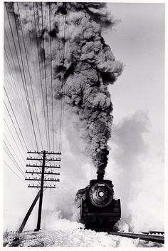 kafkasapartment:  Canadian Pacific Railway 4-6-2 type steam locomotive number 2408 (c.1960). D. Plowden. Gelatin silver print
