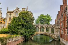 St Johns college and the Bridge of s by Patricia Hofmeester on Creative Market