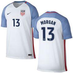 ce4315a5e Alex Morgan Home Replica Men s Jersey 2016 USA Soccer Team Kyle Beckerman