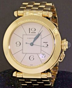 Cartier Pasha Ref. Women's Watches, Cool Watches, Watches For Men, Cartier Pasha, True Gentleman, Beautiful Watches, Gold Watch, 18k Gold, Elegant