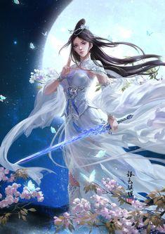 Maia of Spin the Dawn Fantasy Girl, Fantasy Art Women, Fantasy Kunst, Beautiful Fantasy Art, Fantasy Warrior, Dark Fantasy Art, Fantasy Artwork, Akali League Of Legends, Geisha Art