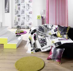 Disponibles sur Paris-Prix.com ! Coussin déco City Colors 40x40 cm